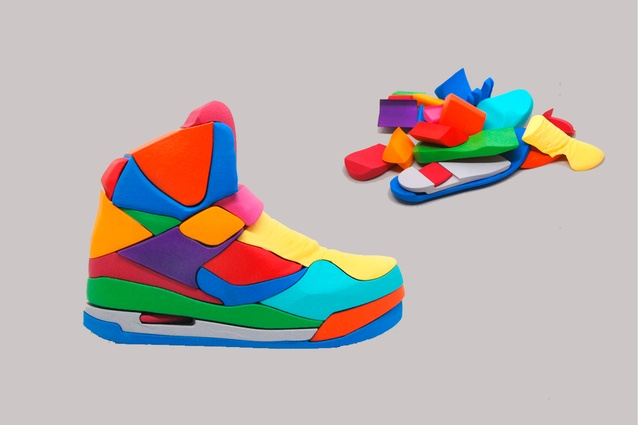 """Air Jordan 45 High 3D puzzle by Yoni Alter I $348 from  <a  href=""""http://shop.yoniishappy.com/product/air-jordan-45-high-3d-puzzle"""" target=""""_blank""""><u>shop.yoniishappy.com</u></a>"""