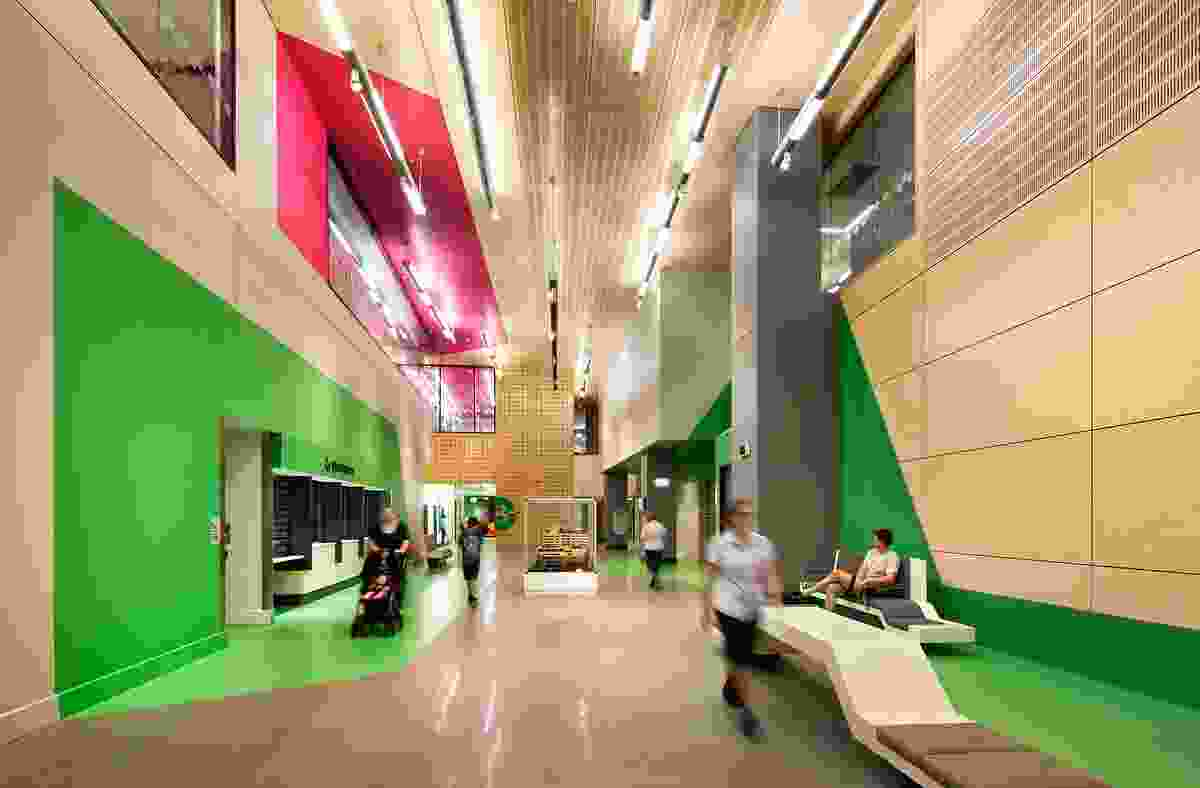 """A """"Queensland"""" colour wheel was devised to assist with wayfinding throughout the interior."""