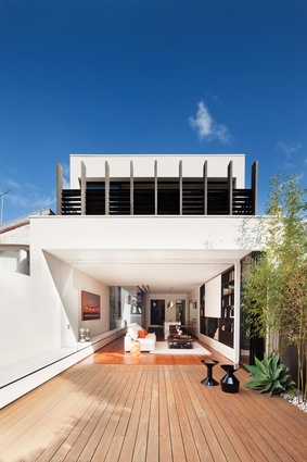 A new, open-plan extension was abstracted from the proportions of the Mary Residence's front facade.