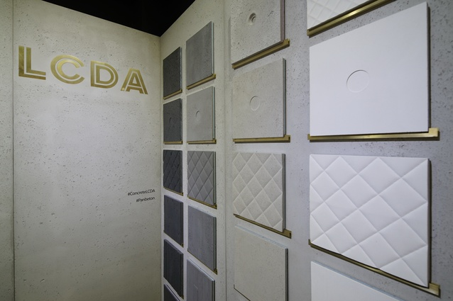 Custom concrete panels from Concrete LCDA on show at Maison&Objet Asia.