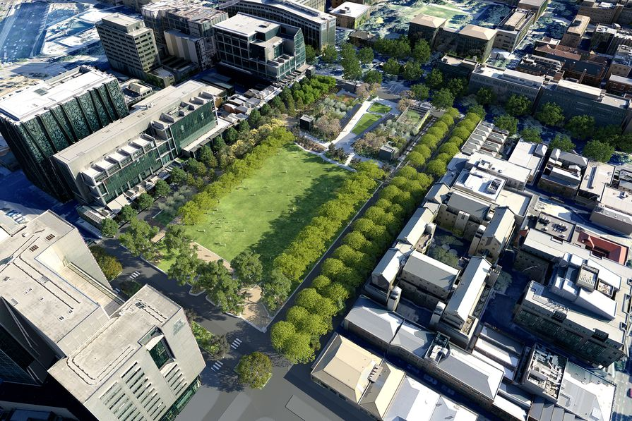 An overview of the proposal for University Square in Carlton to incorporate adjacent roads to increase its size by 40 percent.
