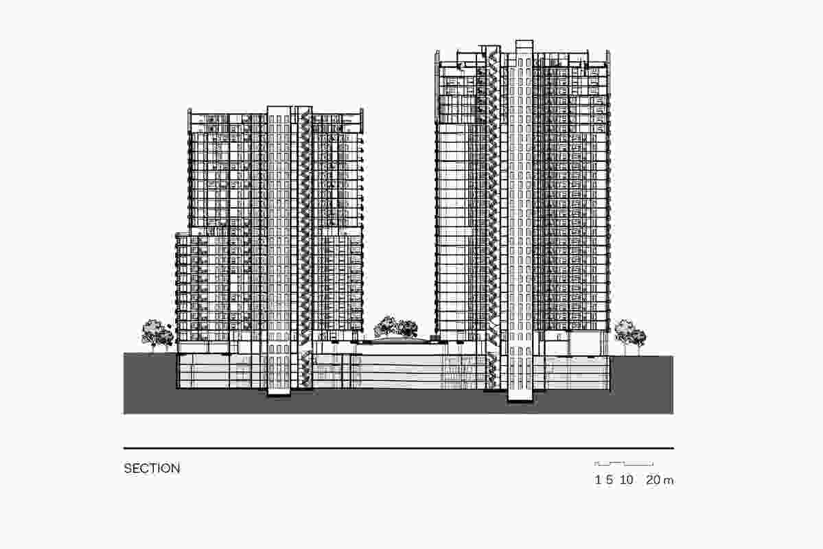 Section of Australia Towers by Bates Smart.