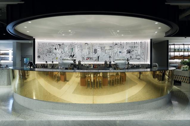 Brunetti Flinders Lane by Techne Architecture + Interior Design.
