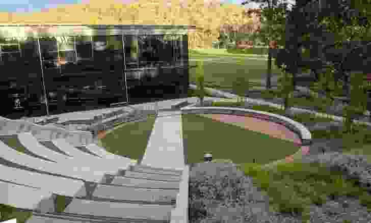 Canberra Grammar School Courtyard by Enviro Links Design