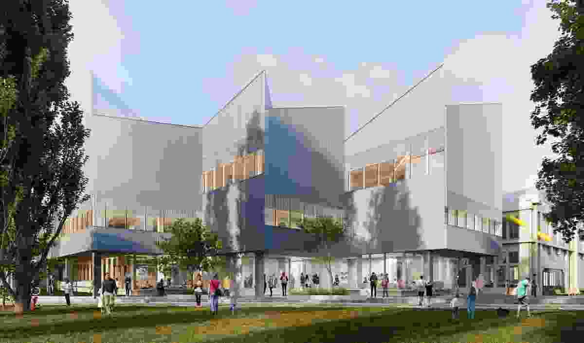 The proposed library and student experience building designed by John Wardle Architects.