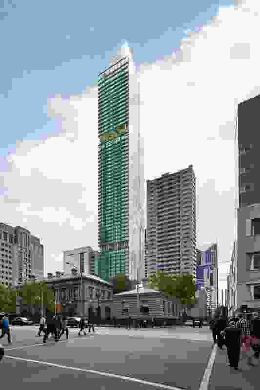 The mixed-use tower at 383 La Trobe Street designed by Ateliers Jean Nouvel and Architectus.