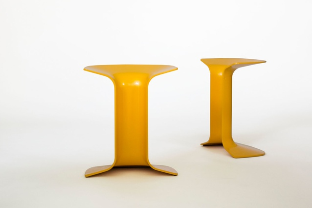 Serif stools by Charles Wilson.