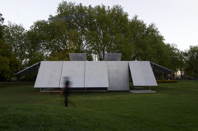 The inaugural MPavilion designed by Sean Godsell.