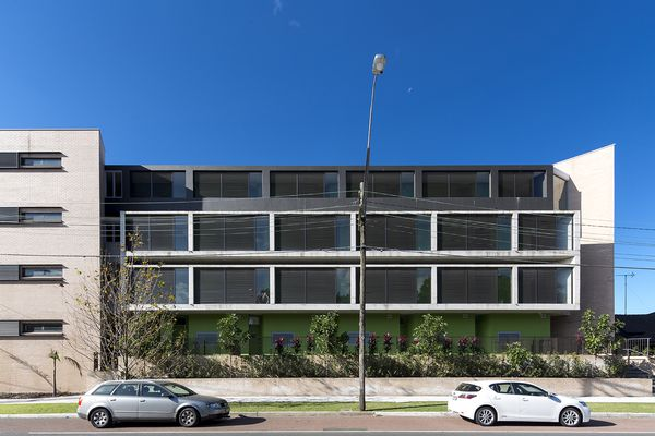 The Kensington by Fox Johnston is one of 11 projects shortlisted for a Residential Architecture - Multiple Housing Award in the 2015 NSW Architecture Awards.