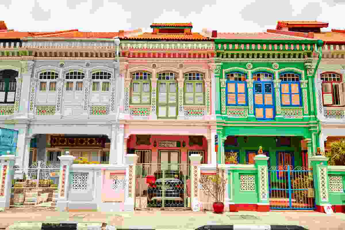 The colourful shophouses of the Joo Chiat district.