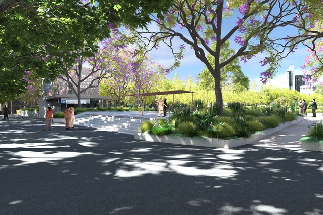 Proposed Grattan Street entrance in the University Square redevelopment.