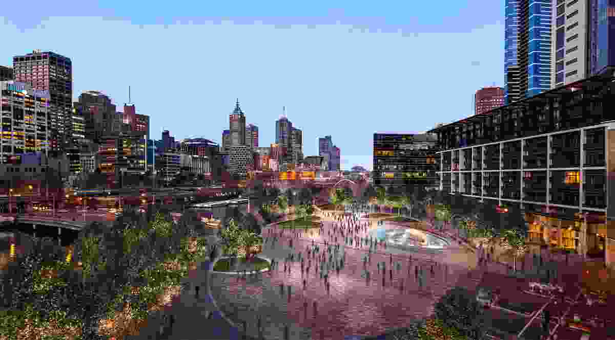 Crown and Schiavello propose to redevelop Queensbridge Square as part of their Crown Queensbridge Tower development.