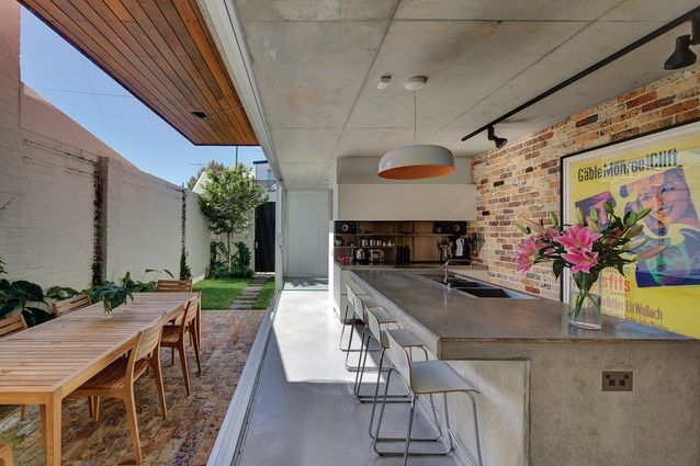 Each ground-level room of Long Courtyard House has been reorientated to provide a garden aspect.