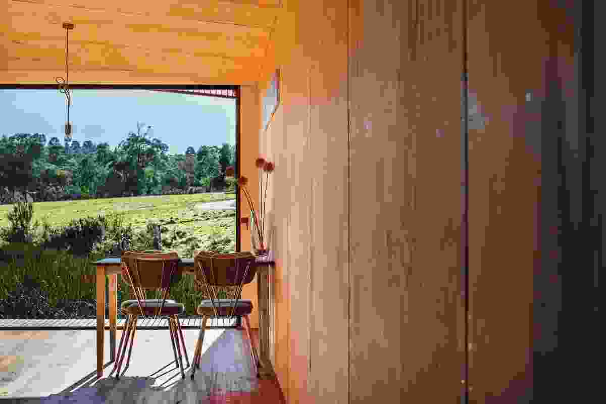 Bathed in natural light from the north, the living spaces look across the neighbouring paddocks.