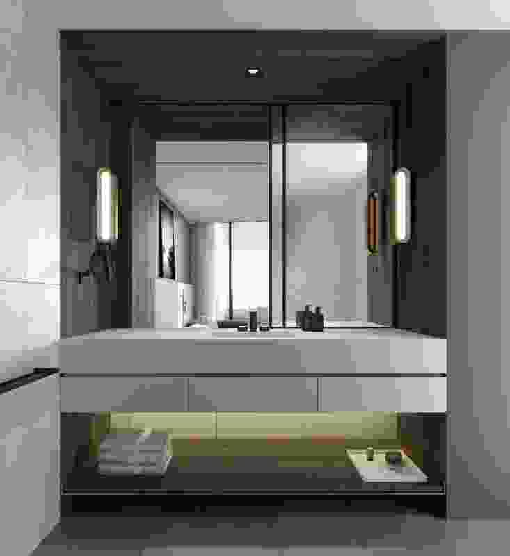 Marriott Docklands bathroom, designed by DKO.
