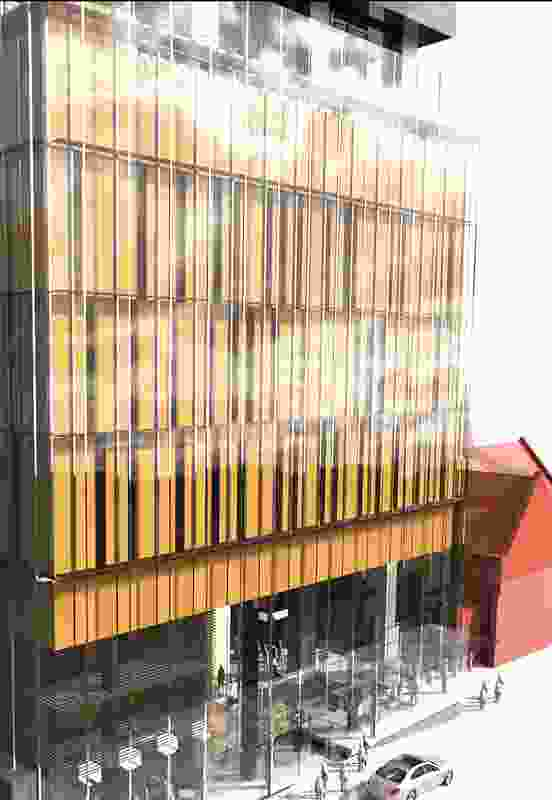 The podium of the proposed hotel tower by Cox Howlett and Bailey Woodland.