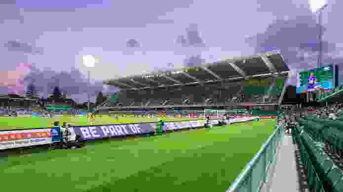 Perth Rectangular Stadium Stage 1 Redevelopment by Cox Howlett & Bailey Woodland.