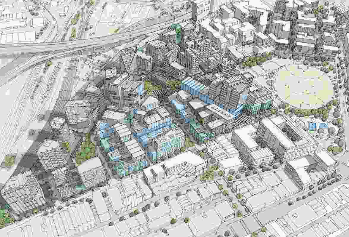 Visualization of Arden Urban Renewal Precinct after redevelopment.