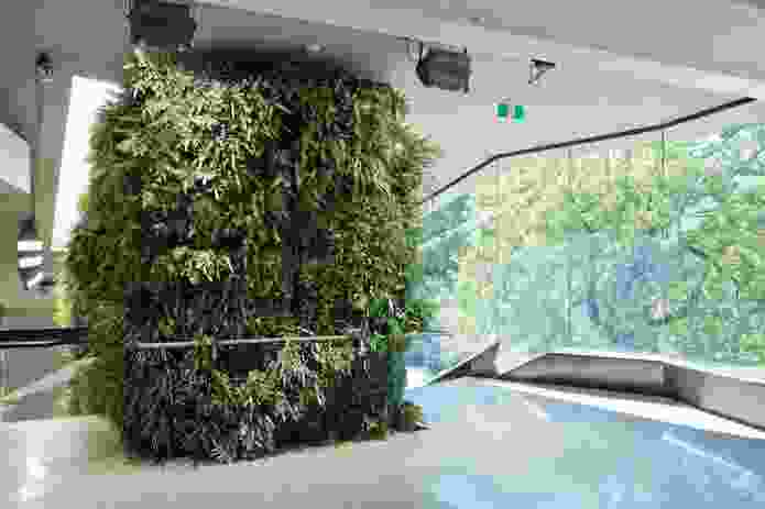 The Entrance Precinct includes significant green walls and rooftop.
