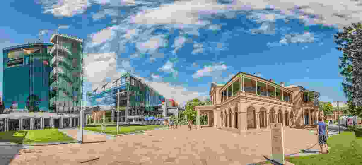 Queensland University of Technology Science and Engineering Centre (2012) – original concept/design by Donovan Hill and Wilson architects in association, detail design finalisation by Leighton Contractors.