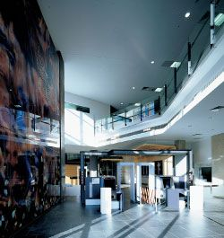 Entrance foyer, with heart/land/riverby Judy Watson seen on the left. Image: Bart Maiorana