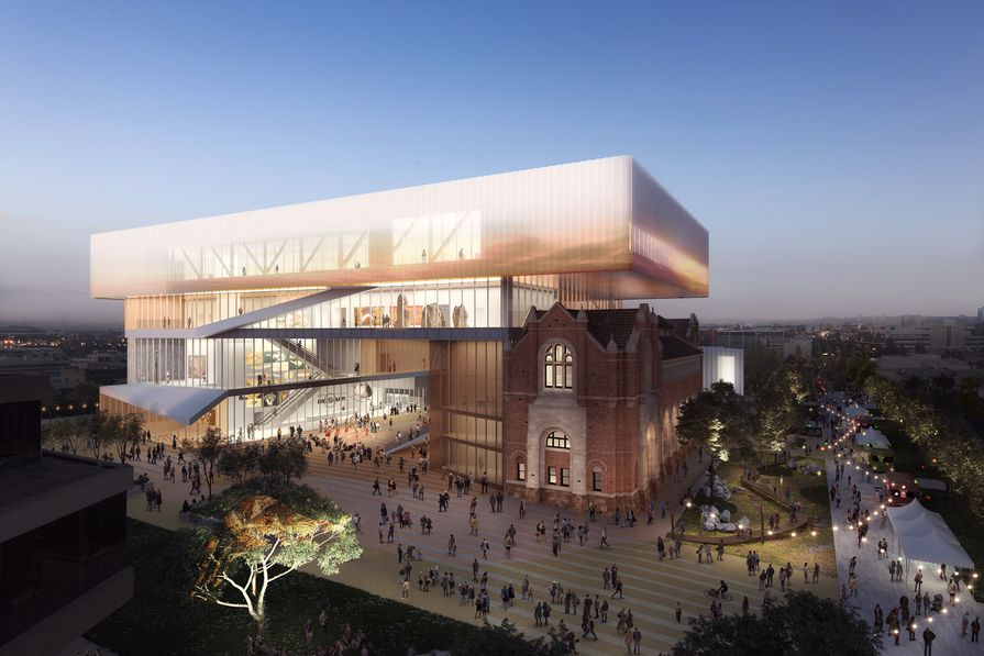 The new WA Museum designed by Hassell and OMA with managing contractor Brookfield Multiplex.