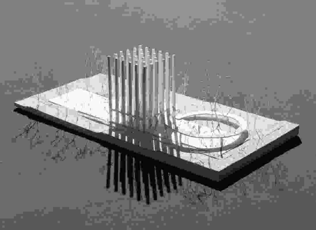 The proposed Less pavilion by Pezo von Ellrichsausen.
