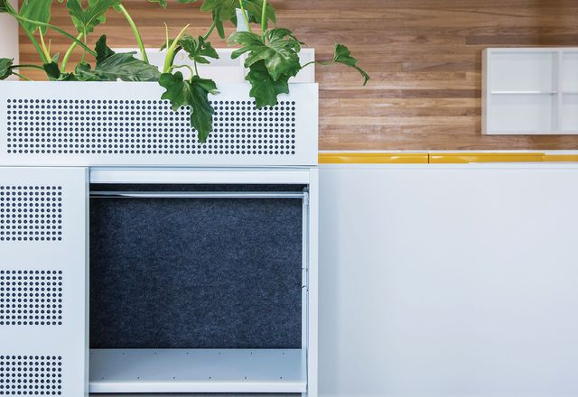 Linea steel cabinets by Planex.