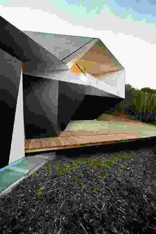 The abstracted and angular form of the award-winning Klein Bottle House.