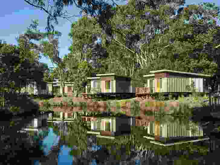 One hundred and three cabins are scattered throughout the bushland, offered in several sizes and configurations.