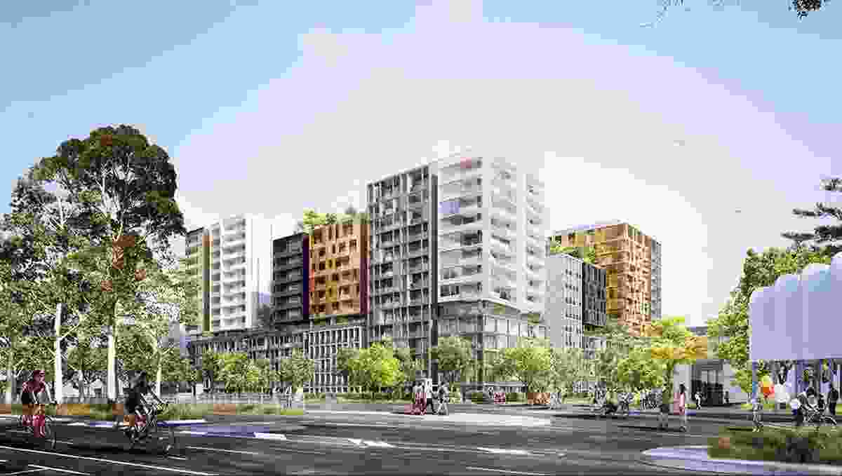 The adjacent, under construction development, also designed by BVN.