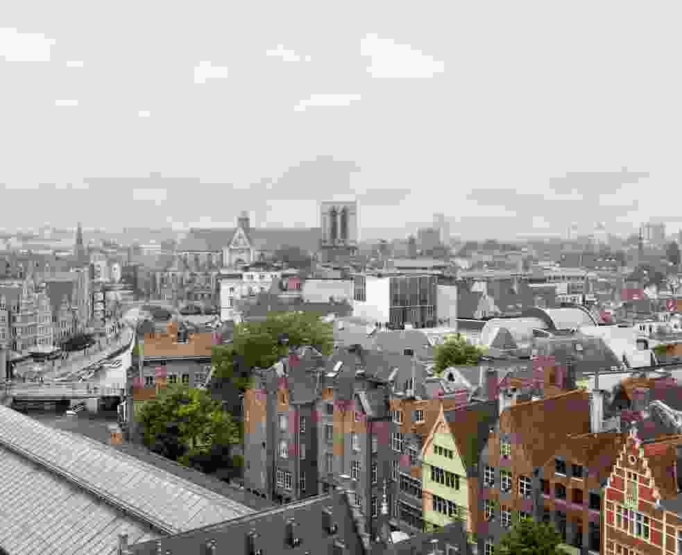 The new wing for Design Museum Gent will have a public balcony with views cross the city.
