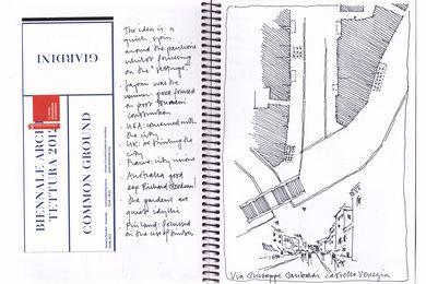 Sketchbook: Via Giuseppe Garibaldi Castello Venezia.
