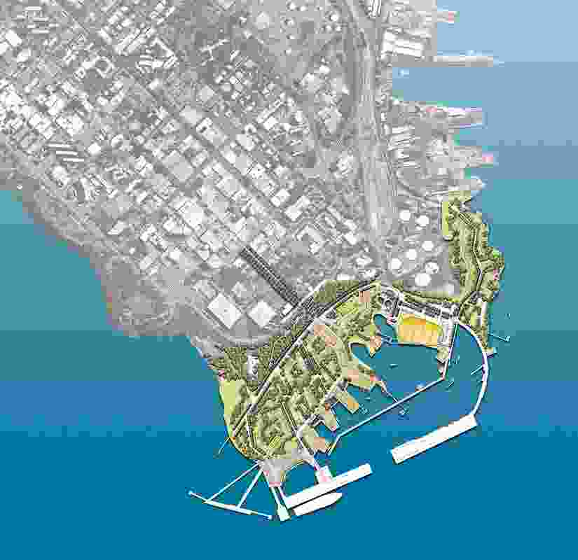 Overall site masterplan of the Darwin Waterfront.