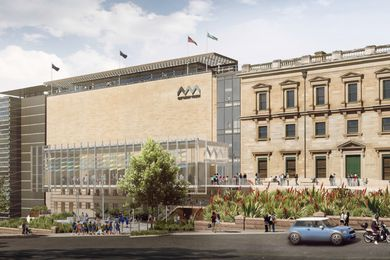 The proposed refurbishment of the Australian Museum by Hames Sharley and Neeson Murcutt.