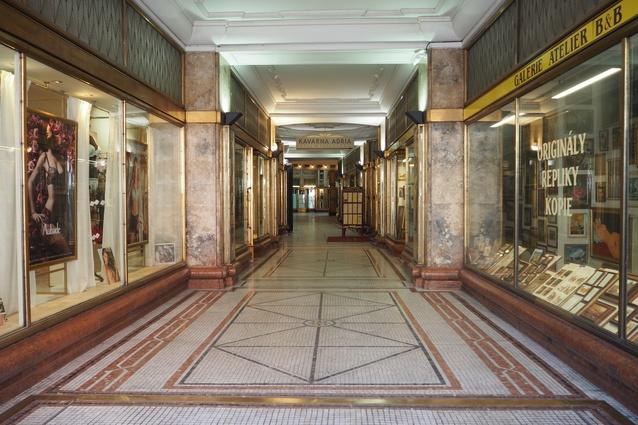 An Art Deco passageway.