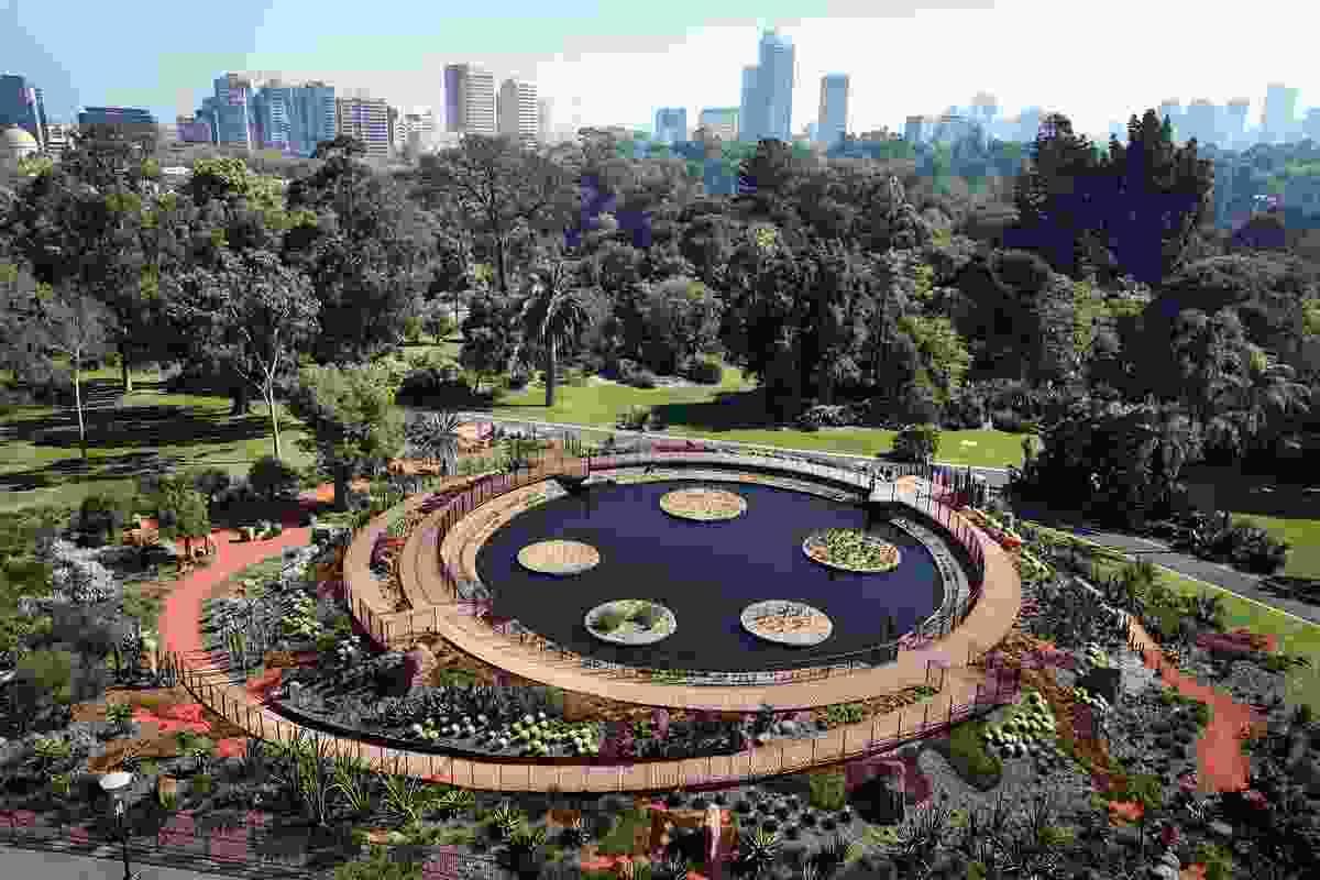 Guilfoyle's Volcano at the Royal Botanic Gardens Melbourne.