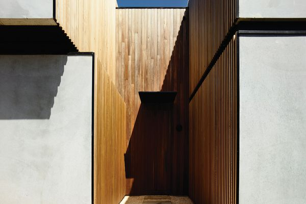 Spotted gum cladding in the Torquay House.