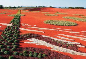 Sand Garden at the Australian Garden, an abstraction of the desert experience.