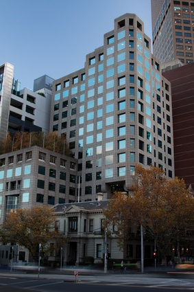 No.1 Collins Street, 1983–4, by Robert Peck YFHK and Denton Corker Marshall, architects in association.