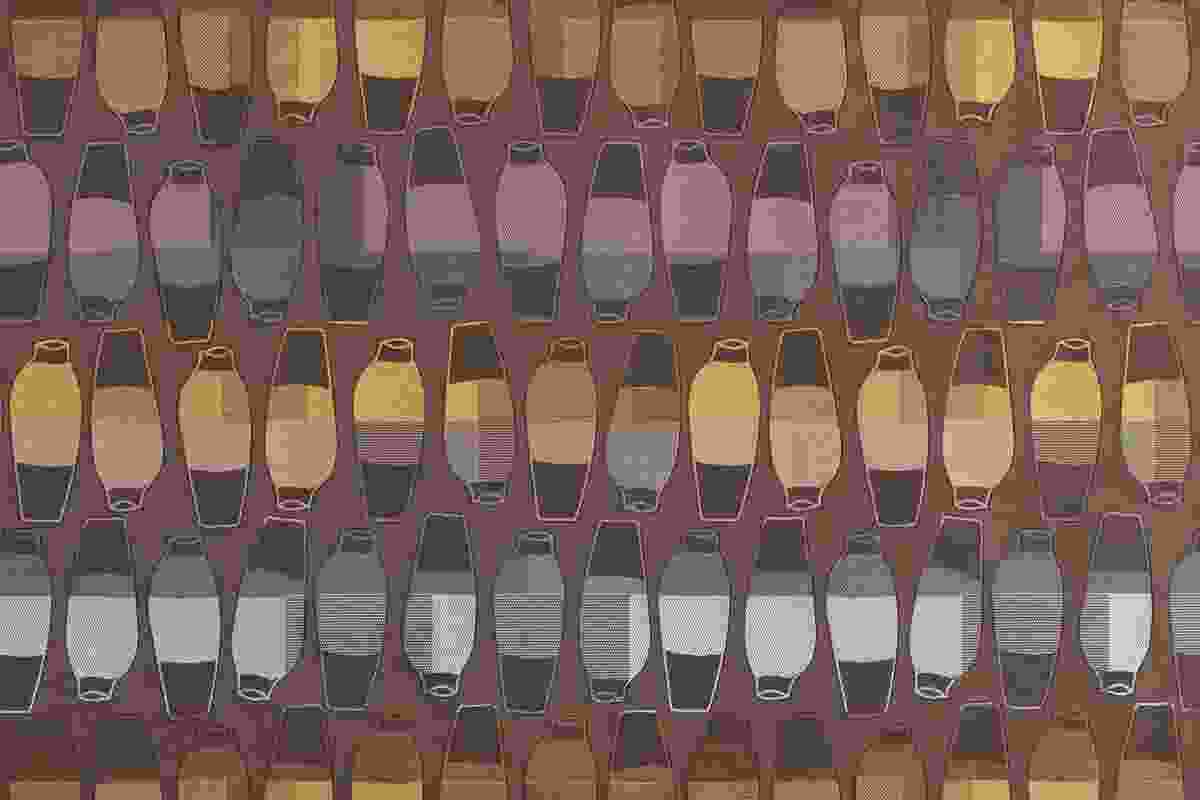 Vases upholstery fabric by Hella Jongerius in Pheasant colour combination.