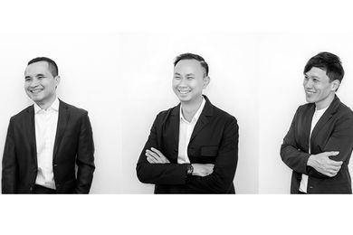 Directors of Bangkok-based landscape architecture practice Shma (left to right): Namchai Saensupha, Prapan Napawongdee and Yossapon Boonsom.