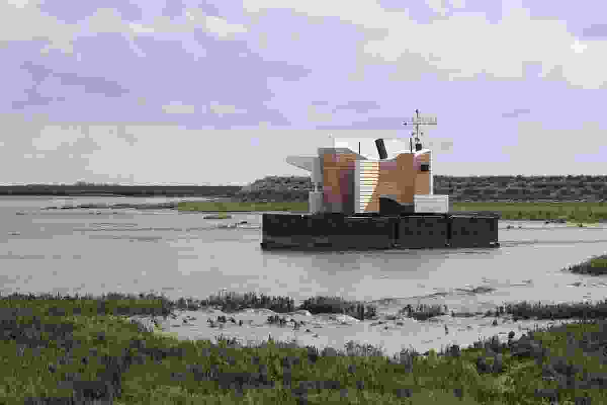Flood House by Matthew Butcher. The 'nomadic' floating project challenges the idea that architecture must be a fixed entity.