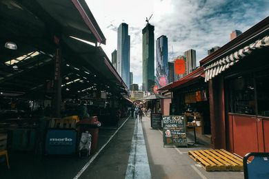 New residential towers along Melbourne's Elizabeth Street as viewed from Queen Victoria Market.