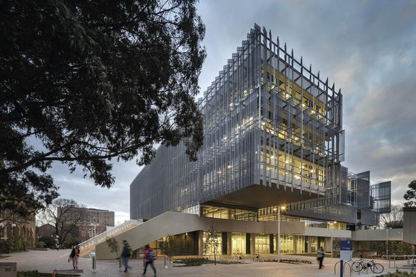 The Melbourne School of Design's Glyn Davis Building by John Wardle Architects and NADAAA.