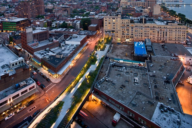 The Highline runs through the industrial Meatpacking District in West Manhattan.