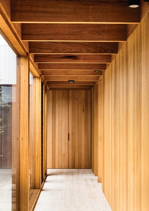 Natural light and timber lining boards amplify the contrast between the new and extant parts of the home.
