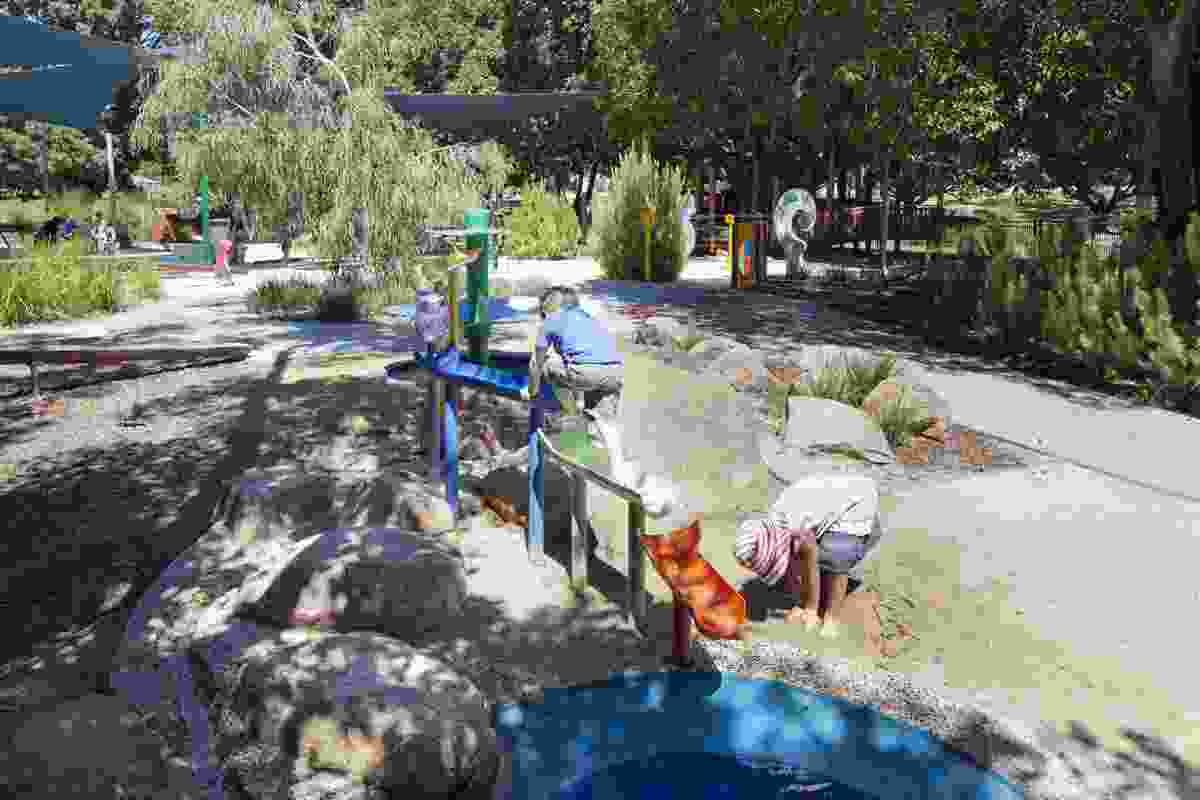 The water play area provides a range on intended (and unintended) activities.
