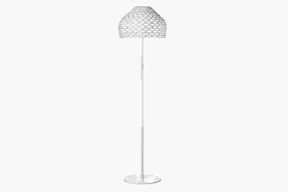Tatou floor lamp by Patricia Urquiola in white.