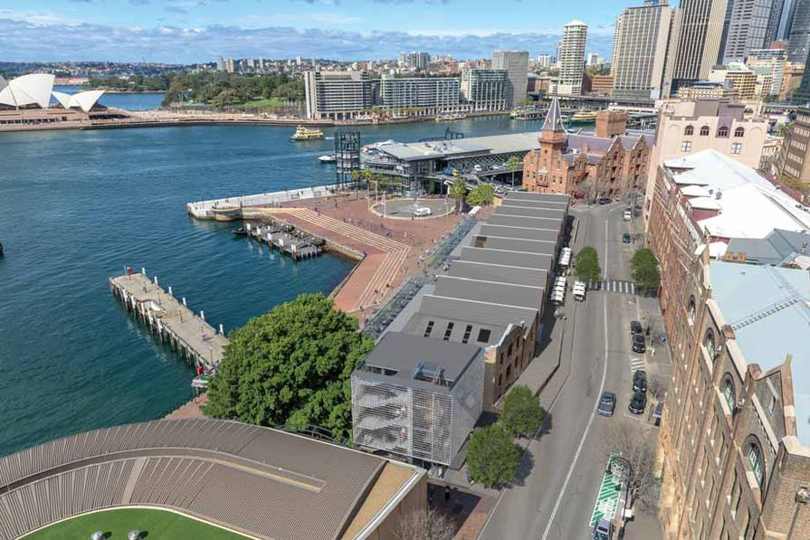 """After: A stand-alone contemporary structure, referred to as """"Bay 12,"""" will be built at the northern end of the site."""